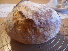 ...svet okolo mňa ...: Nemiesený špaldovo-zemiakový chlieb... Bread, Food, Meal, Essen, Hoods, Breads, Meals, Sandwich Loaf, Eten