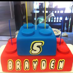 Lego cake..will be attempting this today for Jackson's party tomorrow...wish me luck!