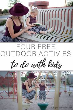 Free outdoor activities with kids, free activities with kids, free things to do with kids, mommy and me outfits, mommy and me matching, buddha pants, harem pants, fall style