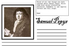 A simple writing frame for children to record their learning about the Great Fire of London and the life of Samuel Pepys.