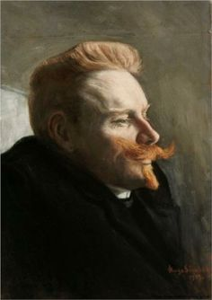 Simberg, Hugo - 1903 Man with Red Moustache (Ateneum Art Museum, Helsinki, Finland) Edgar Degas, Helsinki, Potrait Painting, Redhead Art, Gerhard, Scandinavian Art, Hugo, Finland, Art Museum