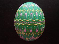 beautiful decorated egg (pysanka)