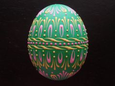 beautiful decorated egg (pysanka)