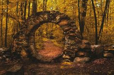 SEASONAL – AUTUMN – fall leaves in brilliant colors decorate the landscape at the forest portal of the magic woods in brocéliande, photo via greyusper. Beautiful World, Beautiful Places, Peaceful Places, Amazing Places, Wonderful Places, Chateau Medieval, Enchanted Wood, Magical Forest, Exotic Places