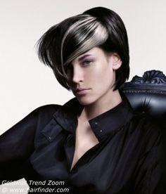 black  & silver hair (Goldwell)