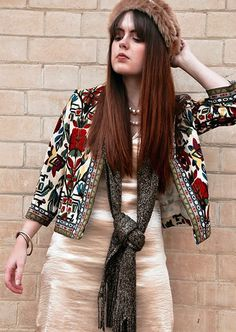 Discover Spring Dresses in the latest styles at Vee - Vintage Floral Tribal Printed Short Jacket