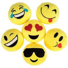 "Emoji 5"" Plush (12 Count) - Party Supplies"