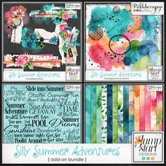 Silly Summer Adventures ~ Add-On Bundle by Jumpstart Designs. 50% off until July 20! Also sold in separate packs at 25% off each @ Pickleberrypop