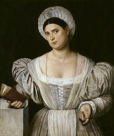Licinio , Bernardino (Italian, ca.1489–1565) -- Женский портрет (сестра художника Агнесса), 1525 - 1530, 98 см x 70 см, холст, масло