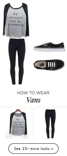"""""""My unicorn ate my homework"""" by macyyyyyyyy on Polyvore featuring Triumph, Paige Denim, Vans, women's clothing, women's fashion, women, female, woman, misses and juniors"""
