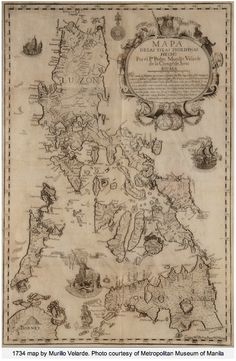 Courtesy of the Metropolitan Museum of Manila. 1734 map of the Philippines. Pretty cool (and old).