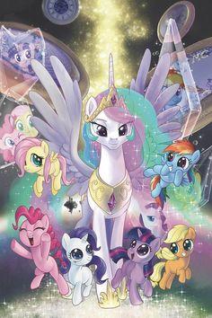 Princess Celestia and all little ponies. Dessin My Little Pony, My Little Pony Poster, My Little Pony List, My Little Pony Princess, My Little Pony Twilight, My Little Pony Birthday, My Little Pony Comic, Little Pony Party, My Little Pony Drawing