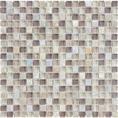 """Bliss - 5/8""""x5/8"""" Cotton Wood Glass Quartz Blend"""