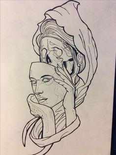 #girl #skull #face #surreal
