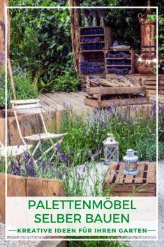 Palettenmöbel im Freien: Gartenmöbel aus Paletten selber bauen liegt im Trend, ist nicht teuer und mit etwas handwerklichem Geschick auch nicht allzu schwer. Wir erklären, worauf Sie beim Palettenmöbel selber machen achten müssen und zeigen Inspirations-Beispiele für den eigenen Garten. Erfahren Sie jetzt wie's geht!  #Palettenmöbel #Paletten #Gartenmöbel #DIY Plants, Blog, Outdoor, Creative Ideas, Tips, Blogging, Plant, Planets