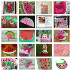 20 Watermelon Crafts!  August 3rd is National Watermelon Day!