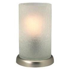 Crackle glass touch lamp - would love this for our night stands.