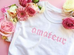 Crop top Ameteur w by girlswp on Etsy