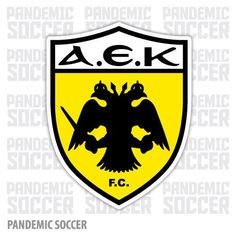 AEK Athens Primary Logo on Chris Creamer's Sports Logos Page - SportsLogos. A virtual museum of sports logos, uniforms and historical items. Soccer Logo, Football Team Logos, Football Soccer, Soccer Teams, Basketball Quotes, Soccer Party, Sports Logos, Sports Teams, Arm Tats