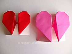 origami-secret-heart  Use a piece of scrap booking paper for a big one. Makes a fantastic card