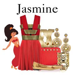 """Jasmine"" by disneyandsuch ❤ liked on Polyvore featuring Andara, Rebecca Minkoff, Disney, N.Y.L.A., Kenzo, Balmain, Chloé, disney, aladdin and WhereIsMySuperSuit"