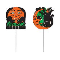 Mini Vintage Halloween Signs from The Holiday Barn