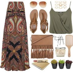 A fashion look from July 2015 by monmondefou featuring Miss Selfridge Etro Billabong Forever 21 Tommy Hilfiger Philip Kingsley boho and bohochic Bohemian Mode, Bohemian Style, Boho Chic, Bohemian Fashion, White Bohemian, Hippie Bohemian, Gypsy Style, Vintage Bohemian, Boho Gypsy