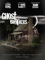 """""""Ghost Brothers of Darkland County"""" is a musical written by novelist Stephen King with original music written by rock musician John Mellencamp that debuted at the Alliance Theatre in Atlanta, Georgia on April 4, 2012. A CD/DVD deluxe edition, featuring the soundtrack, handwritten lyrics and a mini-documentary about the making of the musical, will be released on June 4, 2013."""