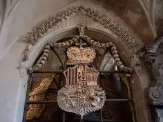 The Cemetery Church of All Saints with the Ossuary, Kutna Hora - Tripadvisor Sedlec Ossuary, Catacombs, Roman Catholic, All Saints, Coat Of Arms, Macabre, Czech Republic, Cemetery, Trip Advisor