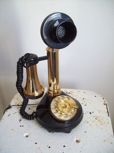 Vintage DecoTel candlestick telephone rotary by MattiesMenagerie