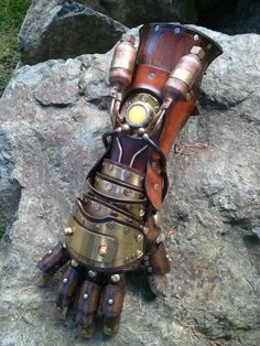 Steampunk Equalist Glove arm armor by SkinzNhydez on Etsy, $1400.00
