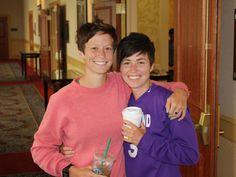 Megan Rapinoe and her twin sister Rachel, July 2010. (The WNT Blog, U.S. Soccer)