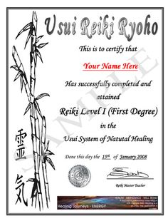 reiki level 1 certificate template - reiki certificate templates download feel free to explore