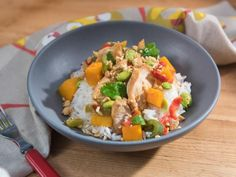 Get Spicy Chicken Stir-Fry Recipe from Food Network