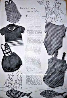 Revue Vintage « Modes et Travaux » d'Avril 1949, avec de la couture, du tricot, du crochet, des recettes…
