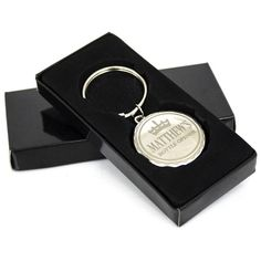 Great Gift for a Best Man - Personalised Key Rings - Crown Bottle Top Keyring Gift