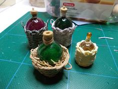 DIY: Wine Basket - I think I could modigy this using those tiny champagne glasses from Dollar Tree