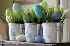 Easter Centerpieces by: theDIYvillage.com