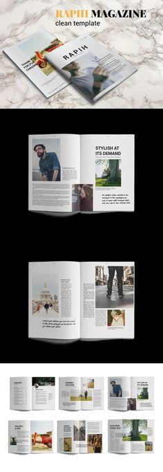 #magazine #design from Dr. Print | DOWNLOAD: https://creativemarket.com/dr.print/666164-R-A-P-I-H-Magazine-Template?u=zsoltczigler