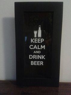 Quadro porta tampinhas de cerveja