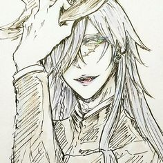Kili is goals I swear man  . That hand tho . Art by: Kili . #undertaker #blackbutlerundertaker #adriancrevan #grimreaper #deathgod #shinigami #legendary #mortician #kuroshitsuji #blackbutler