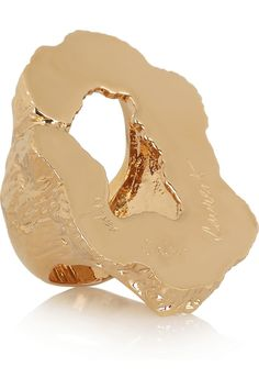 Yves Saint Laurent Feline Large Cutout Goldplated Ring in Gold Gold Plated Rings, Gold Rings, Big Rings, Jewelry Accessories, Jewelry Design, Unique Rings, Wholesale Jewelry, Yves Saint Laurent, Fashion Jewelry