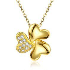 Изображение ожерелье женские классический цветок Позолоченный розовое золото…