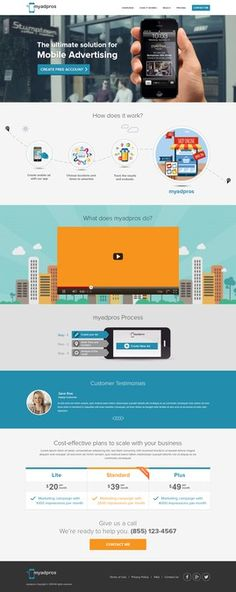 Create website for new cutting edge mobile advertising technology for small businesses by Artistden