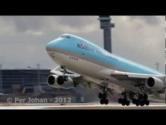 Amazing video of the B747 400F Korean Air Cargo