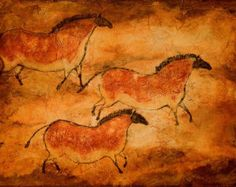 horse cave painting – Etsy