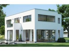 Stratus FD.400 - #Einfamilienhaus von Heinz von Heiden Beratungscenter Dresden   HausXXL #Stadtvilla #Massivhaus #Bauhausstil #Flachdach