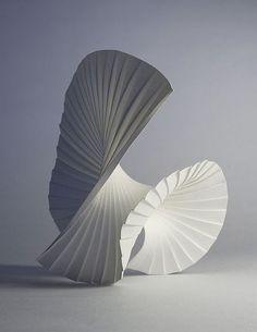 Motion Pleat, 2010 - Paper Art Sculptures by Richard Sweeney