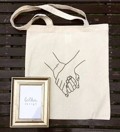 HoldingHands Canvas Totebag