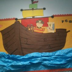 """Bulletin board this year @Catheryn Douglas Crawford """"sailing into the new year"""""""